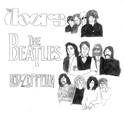 The Beatles vs The Doors vs Led Zeppelin