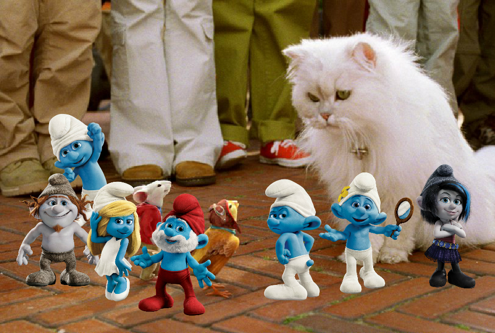 The Smurfs 2 Movie Images And Stuart Little HD Wallpaper Background Photos