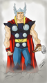 Thor - anime-drawing fan art
