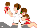 Ty, Milla, young Ty and young Milla - deadlox fan art