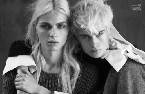 andrej pejic kertas dinding probably containing a business suit, a well dressed person, and a portrait titled Vogue Turkey: Androjen