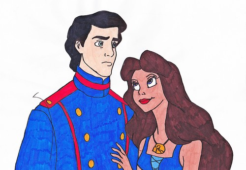 Walt Disney Fan Art - Prince Eric & Vanessa