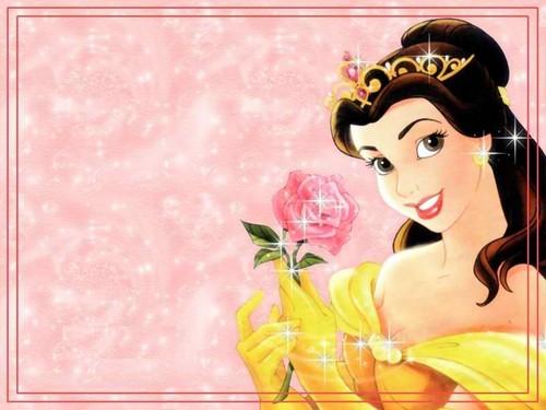 Princess Belle wallpaper entitled belle sweet rose