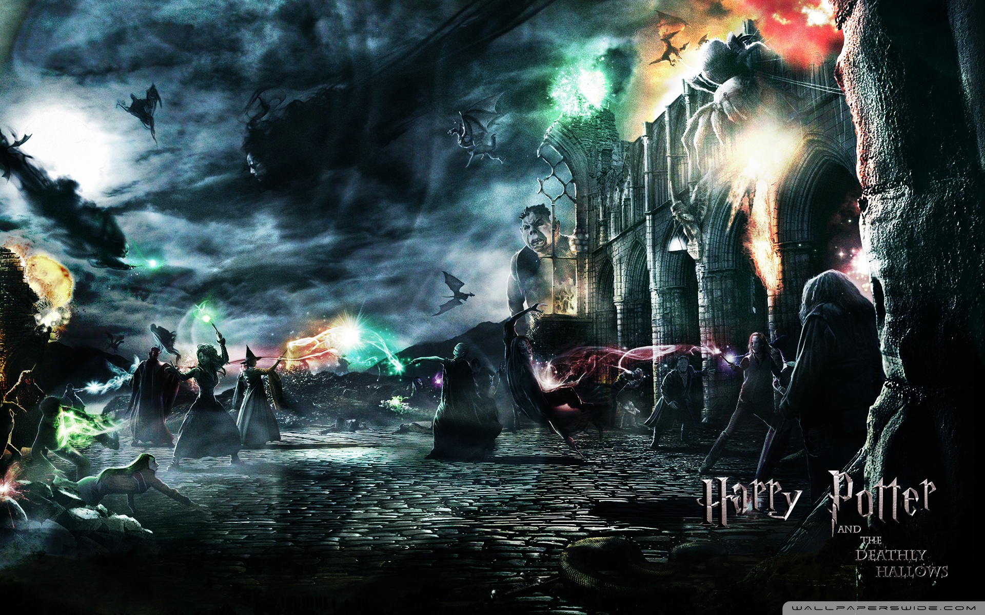 Harry Potter wallpaper with a fuoco and a fontana entitled hp