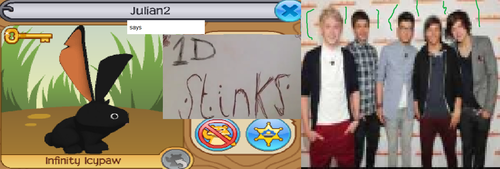 julian2 from animal jam says one direction stinks