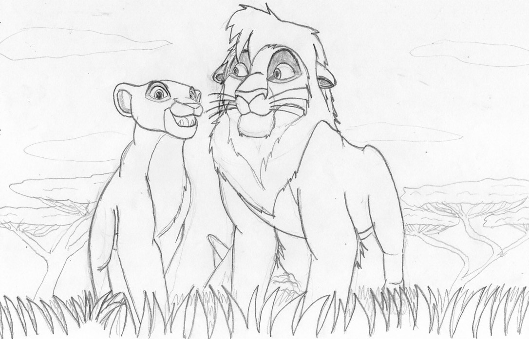 Lion King Kovu And Kiara Drawings