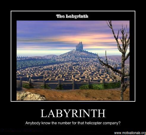 Labyrinth wallpaper probably with anime titled meme