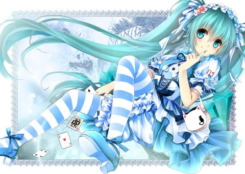 miku in worderland :)