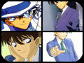 sinichi and kaito kid - detective-conan fan art