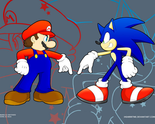 आप are going down Mario!!!! Sonic is coolest hedgehog