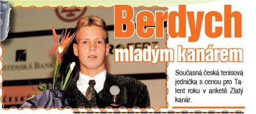 young Tomas Berdych..