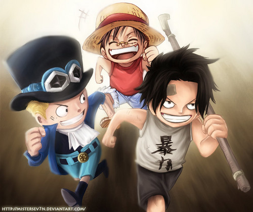 One Piece Wallpaper Called Ace Sabo Luffy