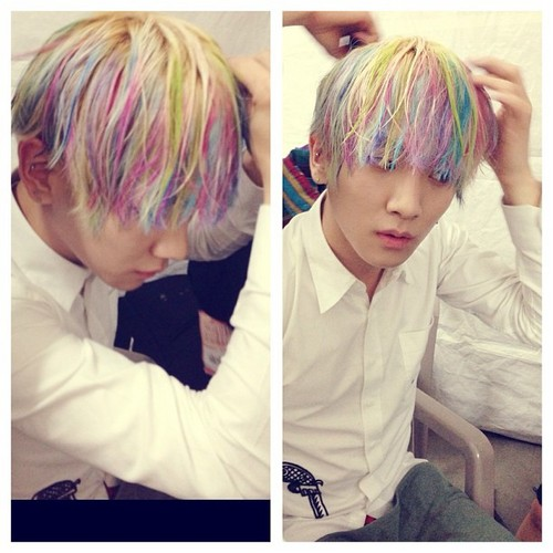 [Photo] Key's Instagram Update 130718 - His Rainbow-colour Hair