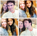 ... - ian-somerhalder-and-nina-dobrev photo