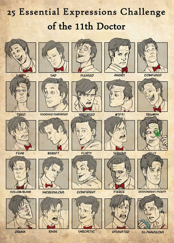 The Eleventh Doctor wallpaper titled 25 Essential Expressions of the Eleventh Doctor