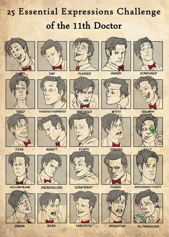25 Essential Expressions of the Eleventh Doctor