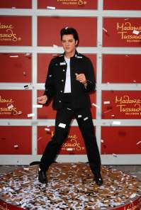 A Wax Statue Of Elvis