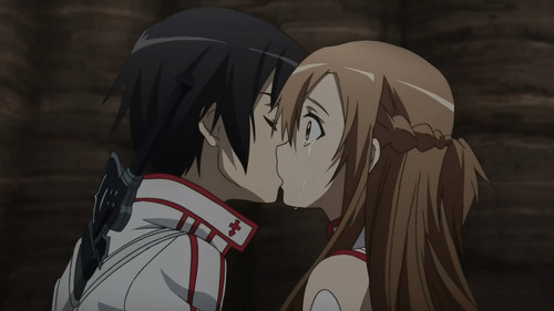 A kiss for Asuna's tears