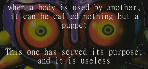 A puppet that can no longer be used...