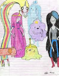 Adventure time girls drawing