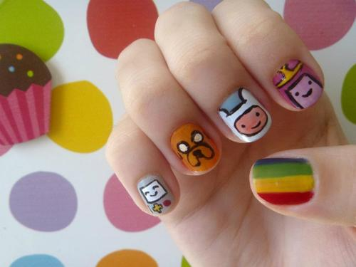 Adventure Time Nail Art 2