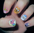 Adventure time nail art 3