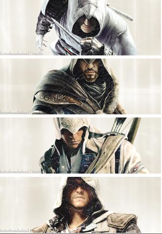 Altair  Ezio  Connor And Edward - the-assassins PhotoConnor And Ezio
