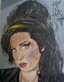 Amy Winehouse Painting - amy-winehouse fan art