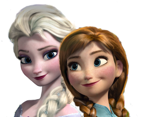 Frozen پیپر وال containing a portrait titled Anna and Elsa