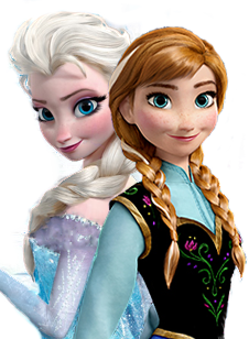 Frozen wallpaper probably containing a bridesmaid, a bouquet, and a portrait entitled Anna and Elsa