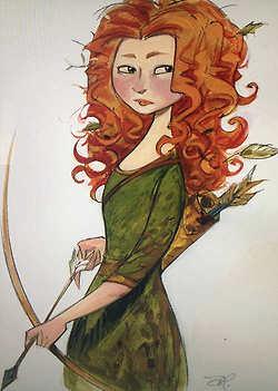 Merida - Legende der Highlands Concept Arts