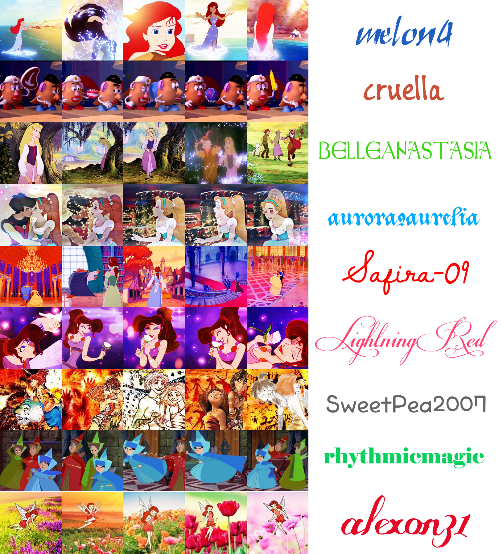 Childhood Animated Movie Heroines CAMH 20 in 20 Icon Contest Round 17 ...