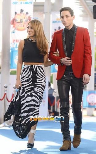 CL and model Lee Soo Hyuk at Mnet 20's Choice Awards