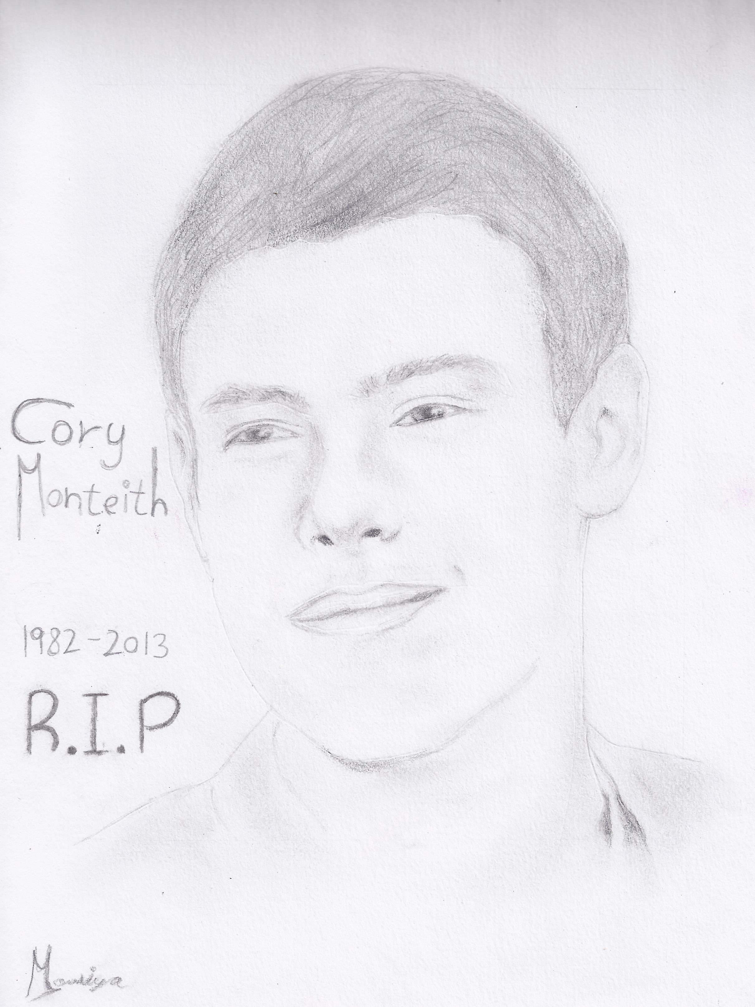 Cory Monteith RIP Drawing