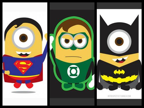 minions de mi villano favorito fondo de pantalla titled DC heroes