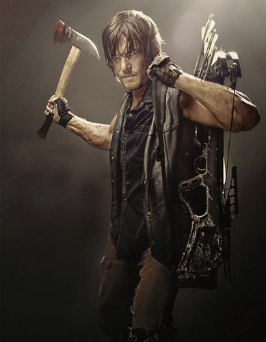 The Walking Dead wallpaper containing a carpenter's hammer titled Daryl Season 4 Promo Photo