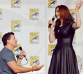 David proposing to Emily at Comic Con 2013