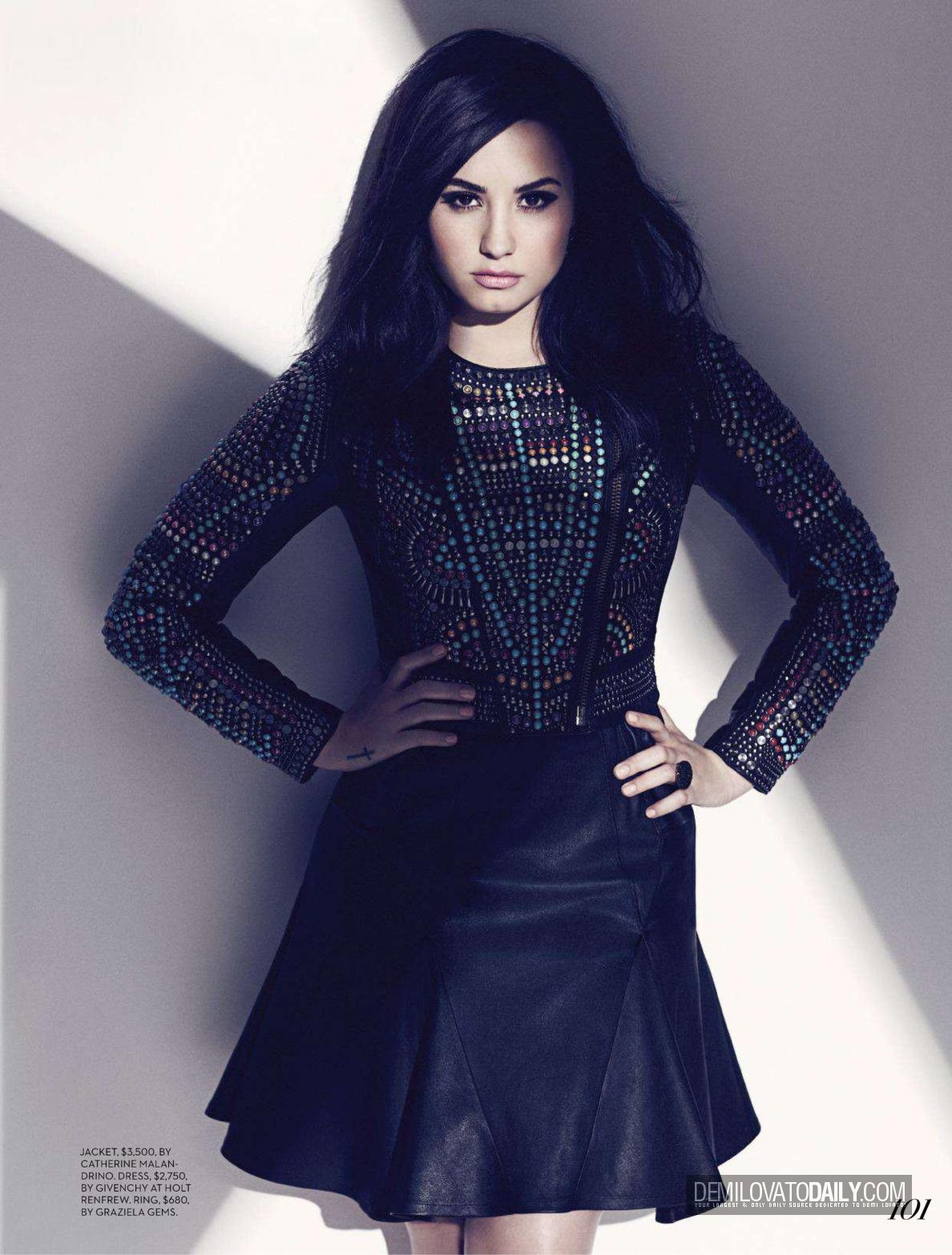 demi magazine scans 2013 fashion august 2013 demi