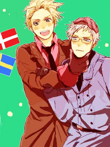 Denmark and Sweden