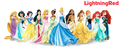Disney Princess Line-up + Anna - disney-princess fan art