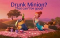 Drunk Minion? XP - despicable-me-minions fan art