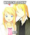 EYES - edward-elric-and-winry-rockbell fan art