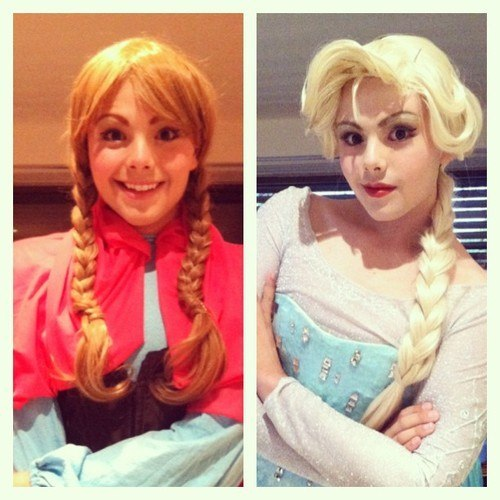 Elsa and Anna Cosplay