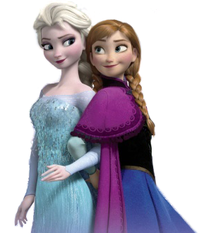 Frozen پیپر وال probably with a polonaise, a kirtle, and a کاک, کاکٹیل dress entitled Elsa and Anna