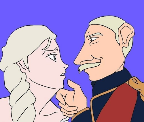 Elsa and the Duke of Weselton