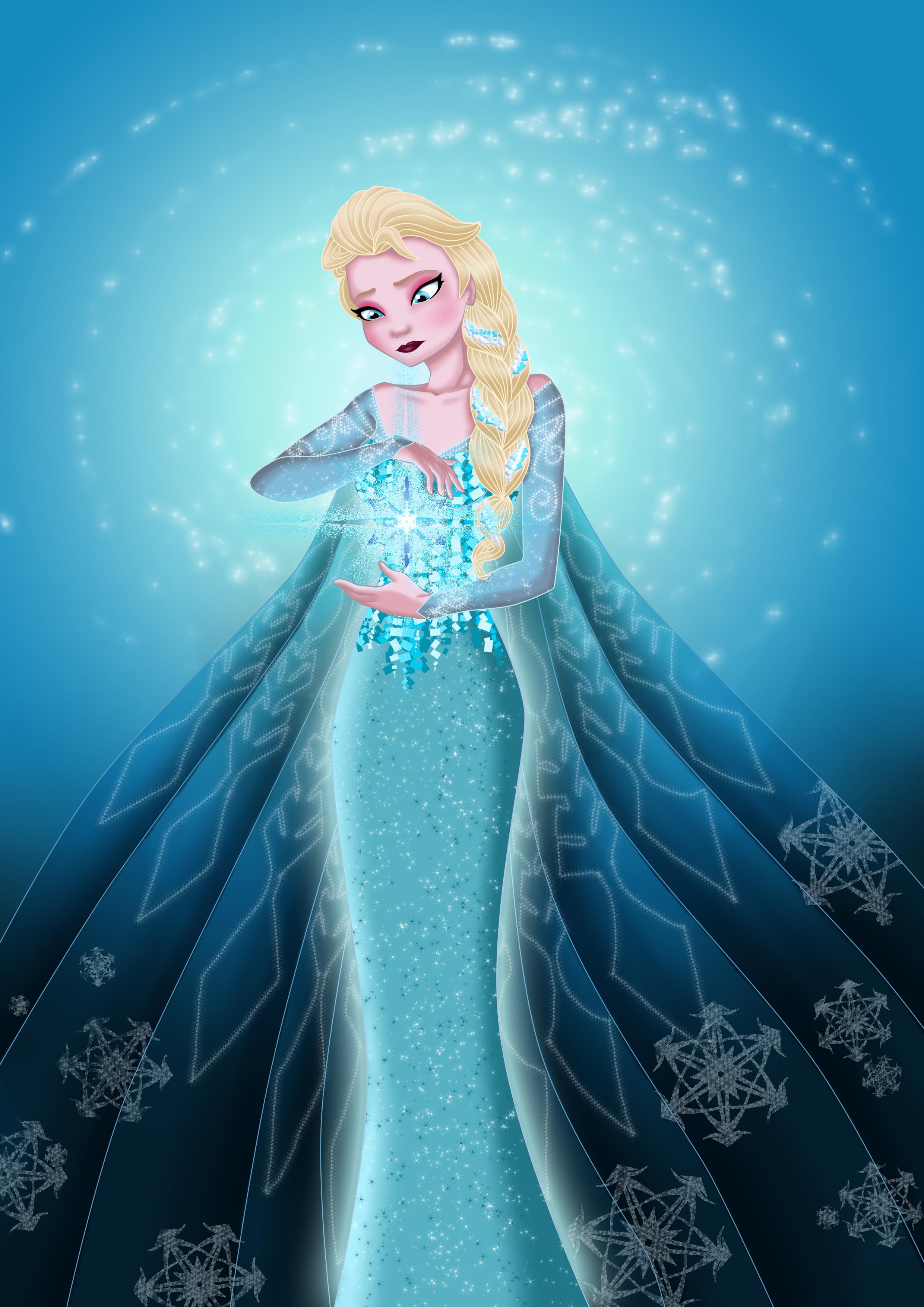 Elsa Frozen Fan Art 35090213 Fanpop