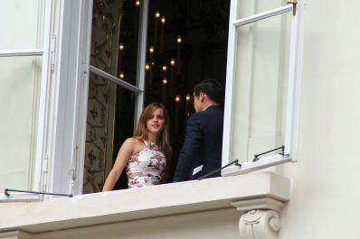 Emma Watson With Derek Blasberg, Staying In Vienna For The Wedding Of Her Austrian Stylist Caroline