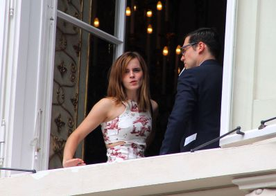 Emma Watson With Derek Blasberg, Staying In Vienna For The Wedding Of Her Austrian Stylist Caroline