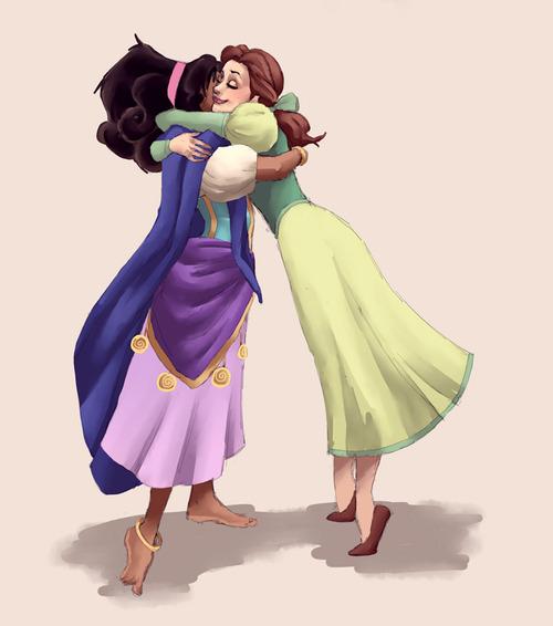 Esmeralda and Belle