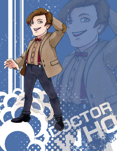 The Eleventh Doctor achtergrond with anime titled Fanart
